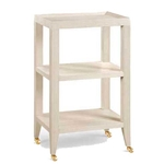 Grasscloth Side Table
