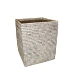 Bleached Square Wastebasket