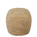 Natural Hemp Pouf