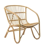 Blonde Rattan Lounge Chair