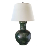 Pair Green Han Lamps