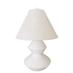 White Plaster Disc Lamp