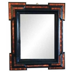 Italian Walnut Ebonized Mirror