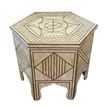 Ivory Brass Inlay Table