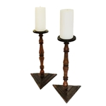 Swedish Walnut Candlesticks