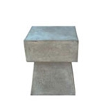 Square Mushroom Stone Table