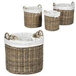 Wicker Lined Basket