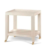 Grasscloth Tea Table