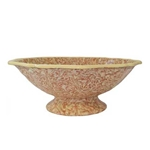 Marblelized Footed Bowl