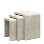 Set Faux Shagreen Nesting Tables