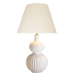 White Ribbed Gourd Lamp