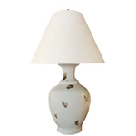 Pair Celadon Spotted Lamps