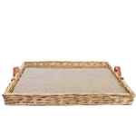 Square Wicker Tray; XL