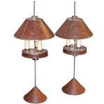 French Tole Lamps