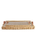 Rectangular Wicker Trays