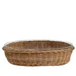 Wicker Oval Pyrex Dish