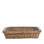 Wicker Rectangular Pyrex Dish