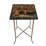 Chinoiserie Brass Bois Table