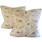 Silk Embroidered Pillows