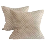 Pair Fortuny Canestrelli Pillows