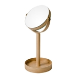 Oak Pedestal Swivel Mirror