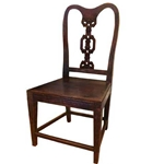 Pair Colonial Teak Chairs