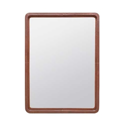 Leather Stitched Mirror