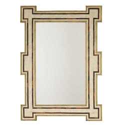 Ivory Bone Gilt Inlay Mirror
