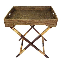 Rattan Butler Tray Table