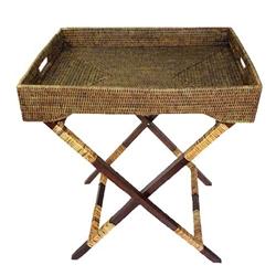 William Laman Furniture Garden Antiques Rattan Butler Tray Table