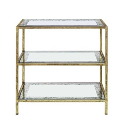 Serrated Gilt Bookcase